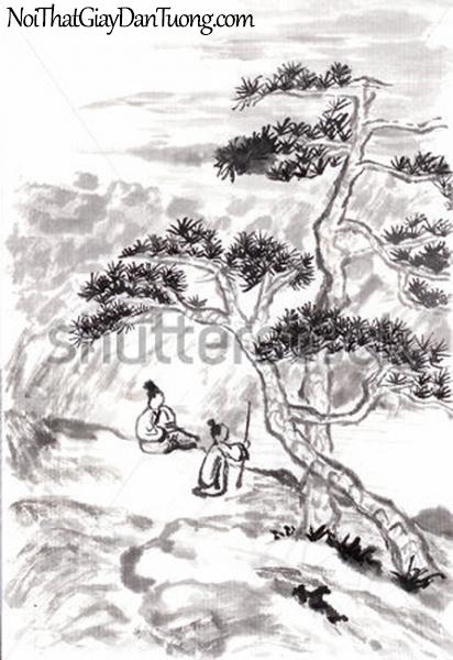Tranh dán tường | Tranh vẽ | Tranh thủy mặc ( mạc ) DA461
