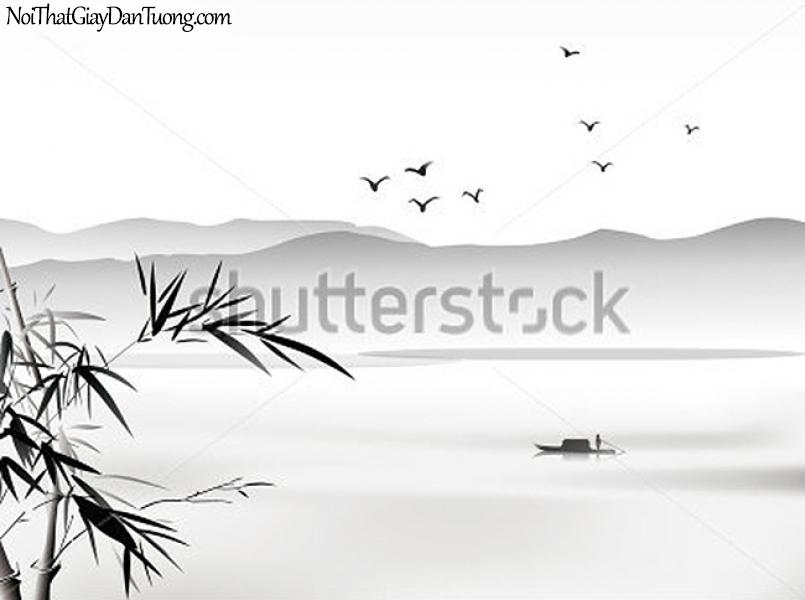 Tranh dán tường | Tranh vẽ | Tranh thủy mặc ( mạc ) DA462