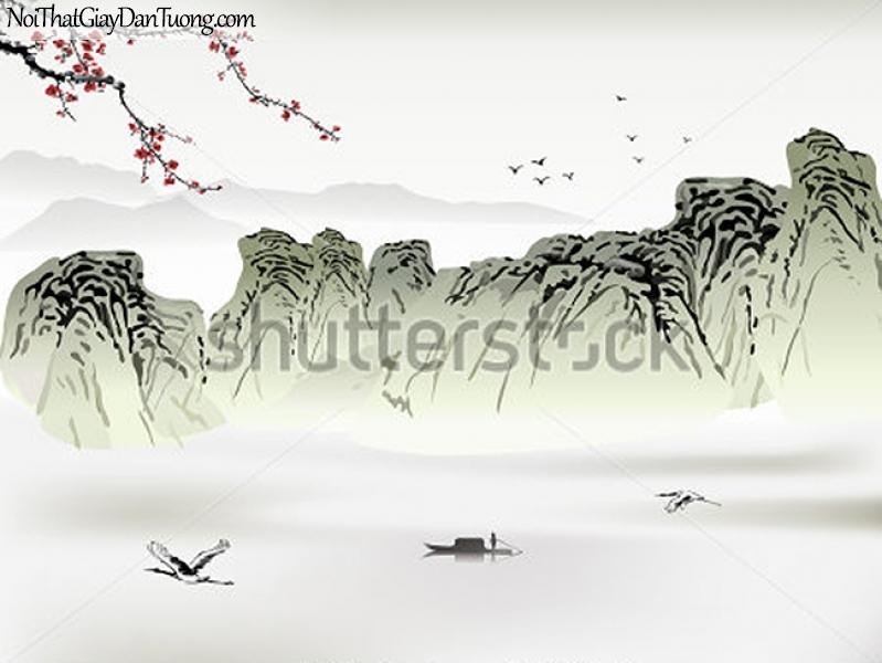 Tranh dán tường | Tranh vẽ | Tranh thủy mặc ( mạc ) DA463