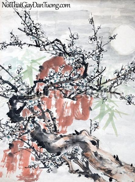 Tranh dán tường | Tranh vẽ | Tranh thủy mặc ( mạc ) DA482