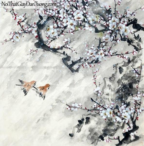 Tranh dán tường | Tranh vẽ | Tranh thủy mặc ( mạc ) DA495