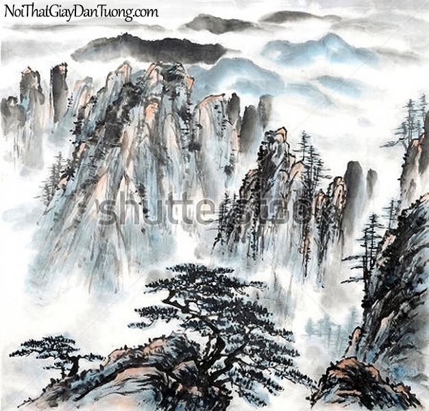 Tranh dán tường | Tranh vẽ | Tranh thủy mặc ( mạc ) DA497