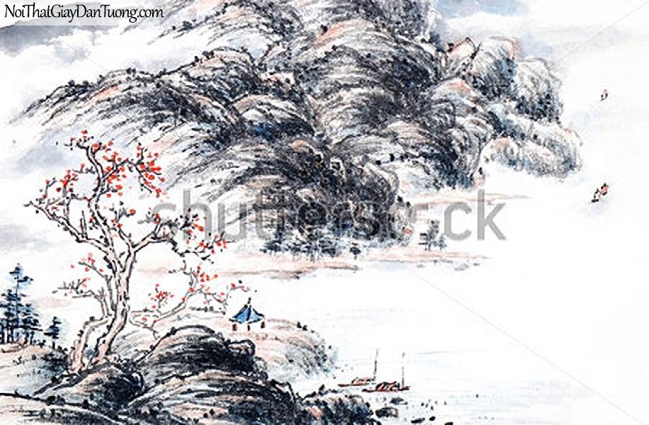 Tranh dán tường | Tranh vẽ | Tranh thủy mặc ( mạc ) DA499