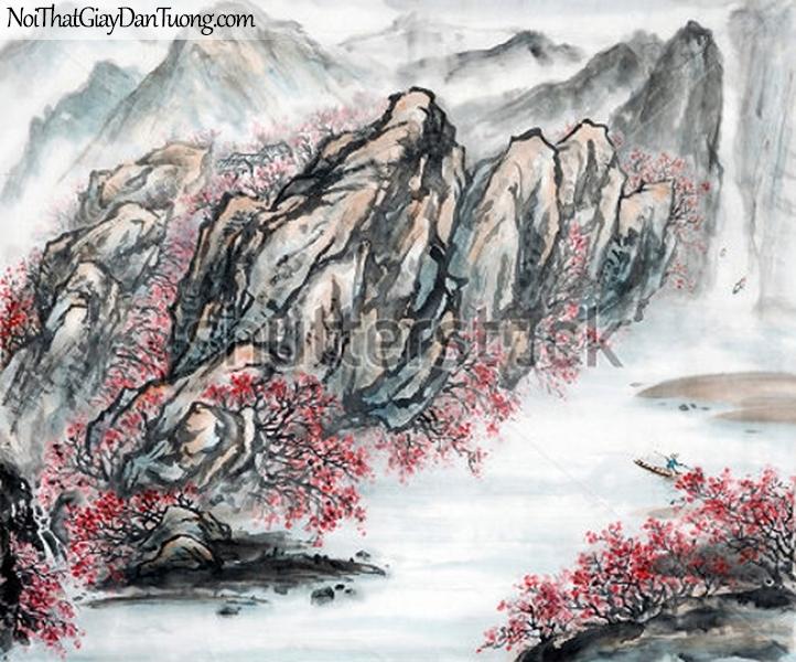 Tranh dán tường | Tranh vẽ | Tranh thủy mặc ( mạc ) DA506