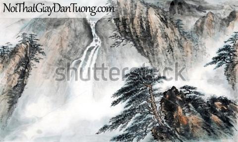 Tranh dán tường | Tranh vẽ | Tranh thủy mặc ( mạc ) DA507