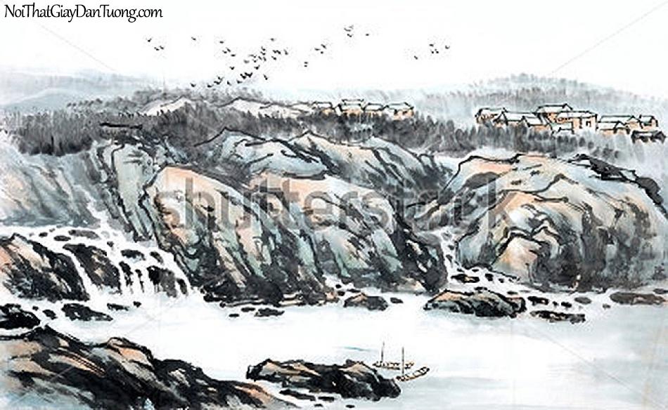 Tranh dán tường | Tranh vẽ | Tranh thủy mặc ( mạc ) DA509