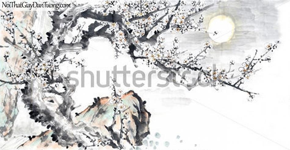 Tranh dán tường | Tranh vẽ | Tranh thủy mặc ( mạc ) DA511