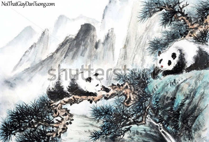 Tranh dán tường | Tranh vẽ | Tranh thủy mặc ( mạc ) DA512