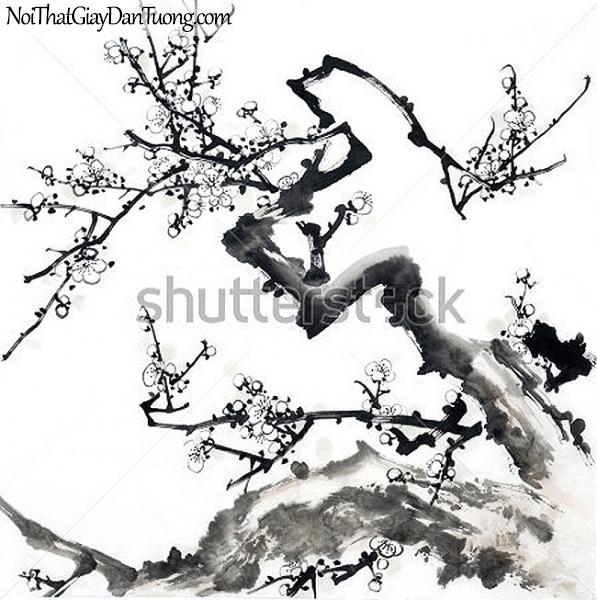 Tranh dán tường | Tranh vẽ | Tranh thủy mặc ( mạc ) DA513