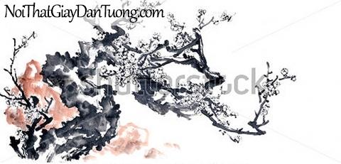 Tranh dán tường | Tranh vẽ | Tranh thủy mặc ( mạc ) DA516