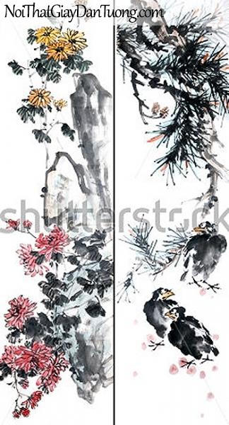 Tranh dán tường | Tranh vẽ | Tranh thủy mặc ( mạc ) DA522