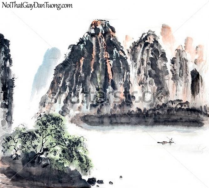 Tranh dán tường | Tranh vẽ | Tranh thủy mặc ( mạc ) DA527