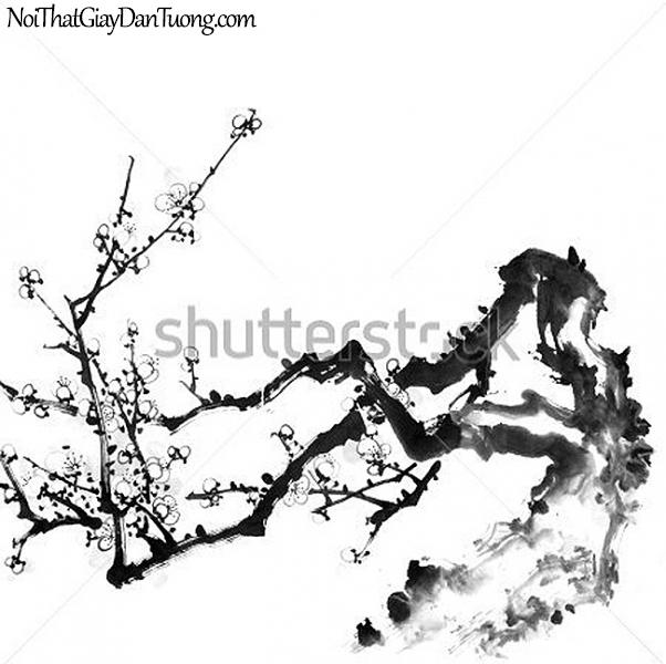 Tranh dán tường | Tranh vẽ | Tranh thủy mặc ( mạc ) DA528