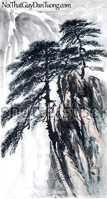 Tranh dán tường | Tranh vẽ | Tranh thủy mặc ( mạc ) DA532