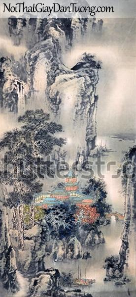 Tranh dán tường | Tranh vẽ | Tranh thủy mặc ( mạc ) DA533