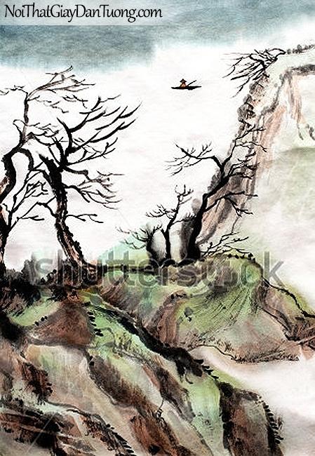 Tranh dán tường | Tranh vẽ | Tranh thủy mặc ( mạc ) DA542