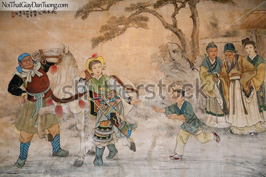 Tranh dán tường | Tranh vẽ | Tranh thủy mặc ( mạc ) DA544