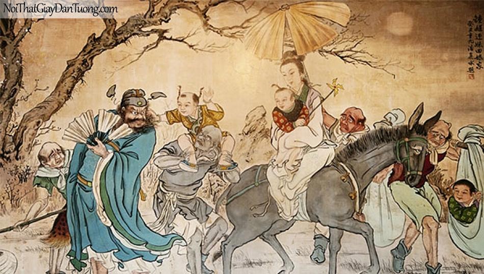 Tranh dán tường   Tranh vẽ   Tranh thủy mặc ( mạc ) DA545