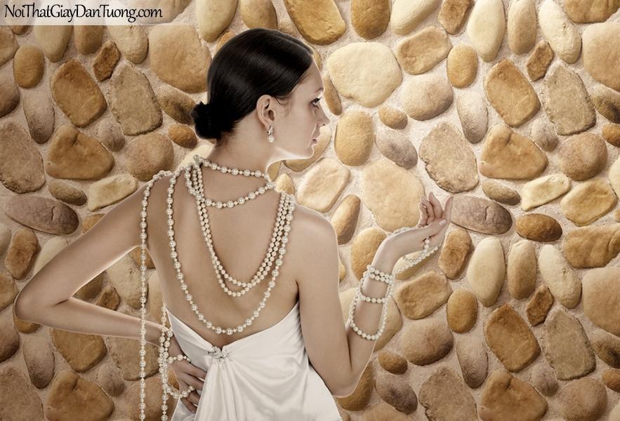Phối cảnh | Giấy dán tường giả đá | giay dan tuong Stone Therapy 53110-1