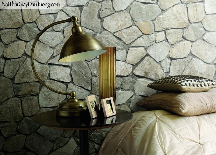 Phối cảnh | Giấy dán tường giả đá | giay dan tuong Stone Therapy 53112-2