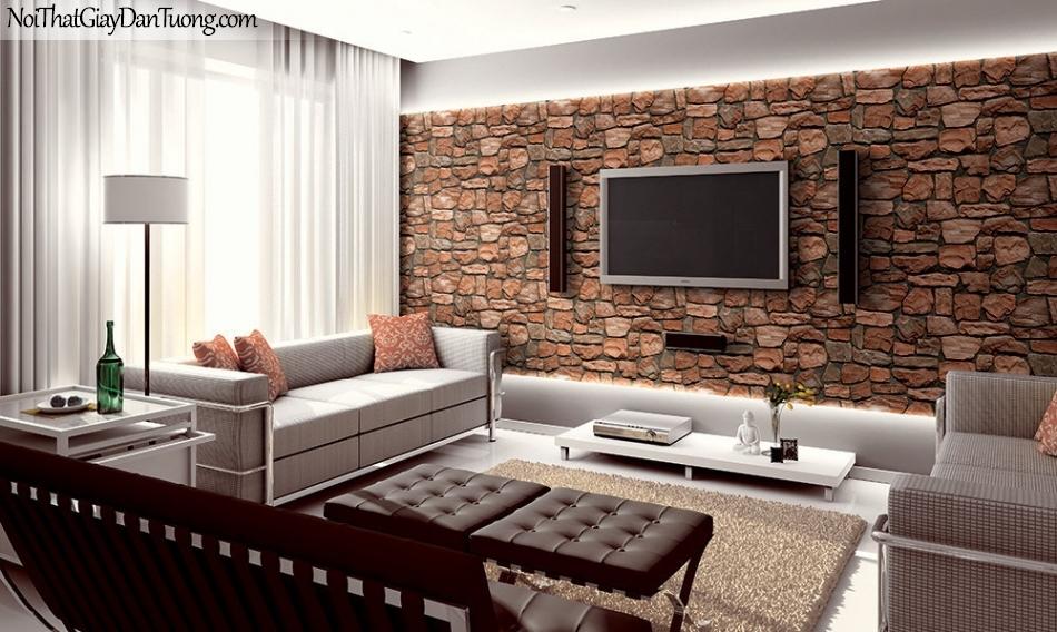 Phối cảnh | Giấy dán tường giả đá | giay dan tuong Stone Therapy 53115-3