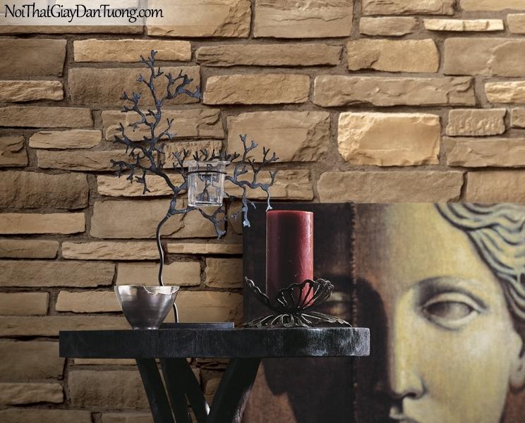 Phối cảnh | Giấy dán tường giả đá | giay dan tuong Stone Therapy 53116-1