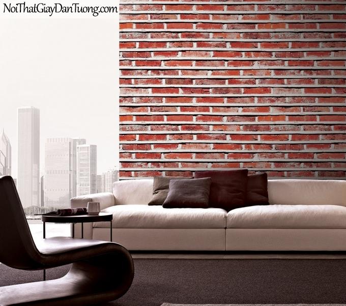 Phối cảnh | Giấy dán tường giả gạch | giay dan tuong Stone Therapy 53102-2