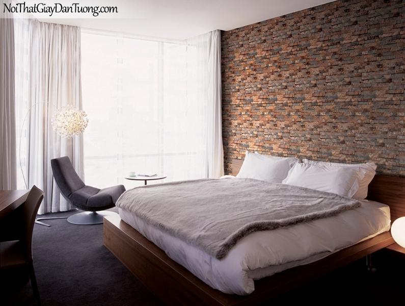 Phối cảnh | Giấy dán tường giả gạch | giay dan tuong Stone Therapy 53106-2