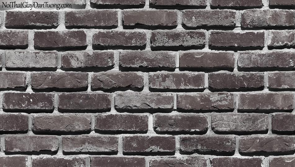 StoneTherapy | Giấy dán tường giả gạch | giay dan tuong Stone Therapy 53101-4 màu đen