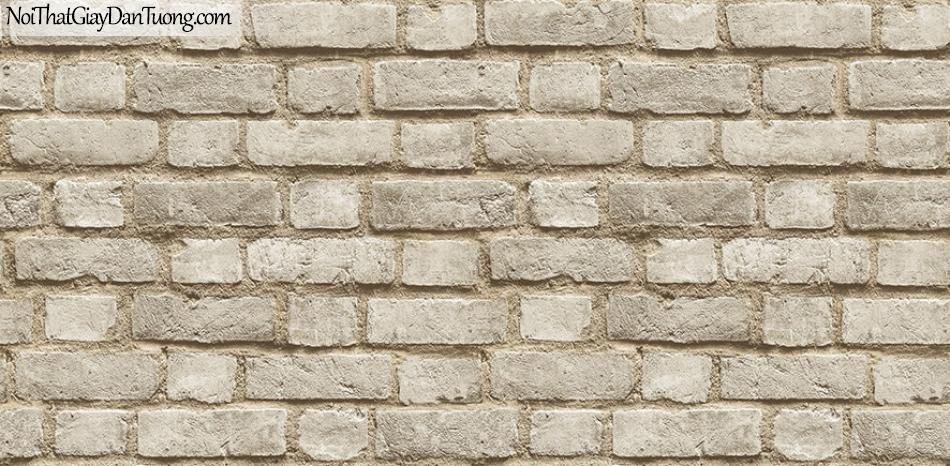 Giấy dán tường The Eight 2124-2 - Giấy dán tường giả gạch, gạch thẻ, giả gạch 3D, màu vàng nhạt