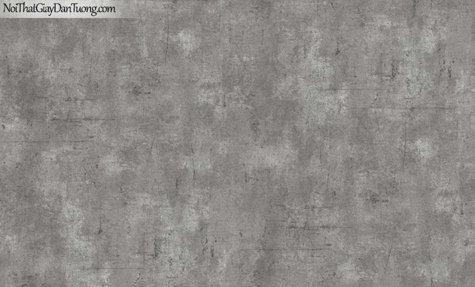 Giấy dán tường The Eight 2126-3 - giấy dán tường giả bê tông, giả bê tông màu tối, giả bê tông màu đen, bê tông mà xám tro, xám tối, tường bê tông đẹp