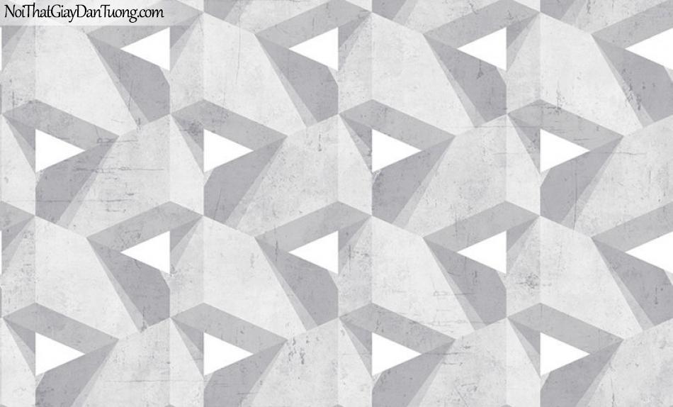 Giấy dán tường The Eight 2127-1 - 2126-1 - Giấy dán tường bê tông 3D, giả gạch xám 3D, giấy dán tương bê tông đẹp