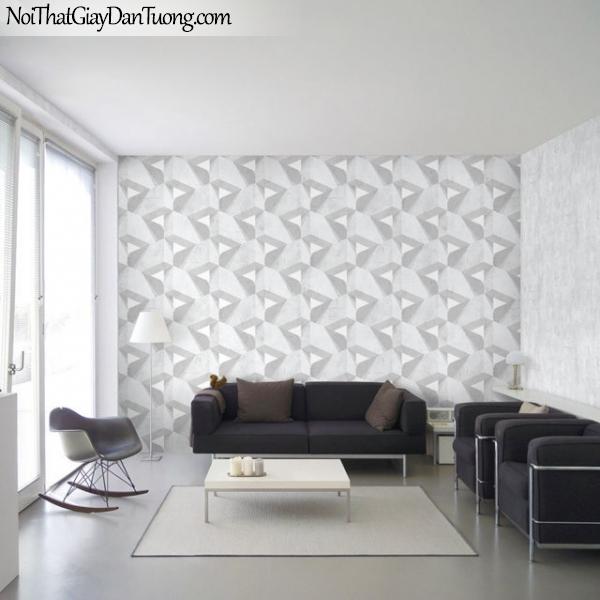 Giấy dán tường The Eight 2127-1 - 2126-1 - phối cảnh hai mẫu giấy dán tường bê tông 3D, gạch 3D đẹp, giấy dán tường 3D
