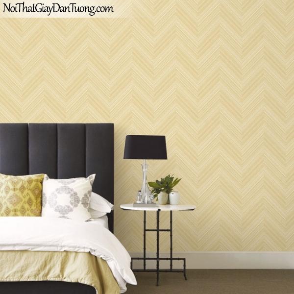 Giấy dán tường The Eight 2128-3 - phối cảnh giấy dán tường sọc xéo màu vàng