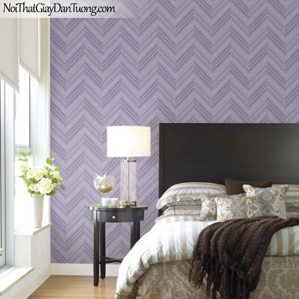 Giấy dán tường The Eight 2128-4 - phối cảnh giấy dán tường màu tím
