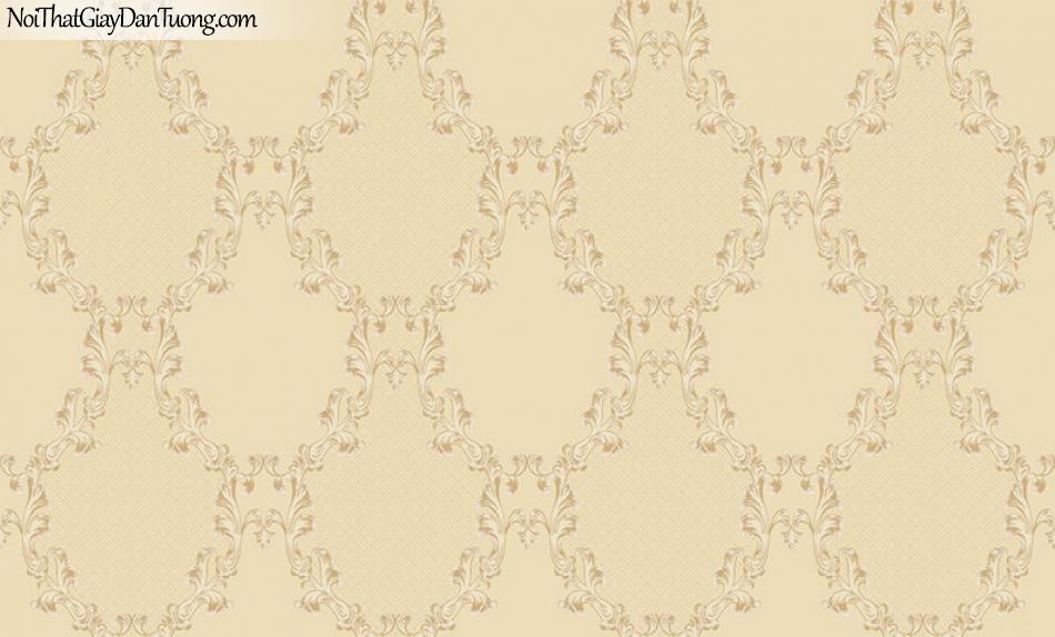Giấy dán tường The Eight 2132-2 - giấy dán tường hoa văn caro, ca rô màu vàng