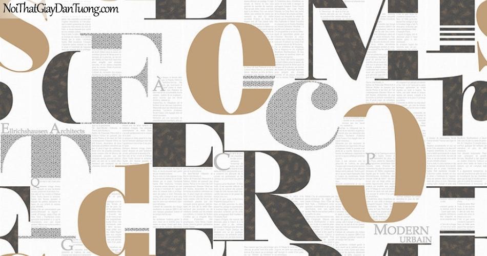 Giấy dán tường The Eight 2134-1 - Giấy dán tường chữ, chữ viết, chữ in, chữ design, phông chữ đẹp, font chữ, giấy chữ, chữ trên tường