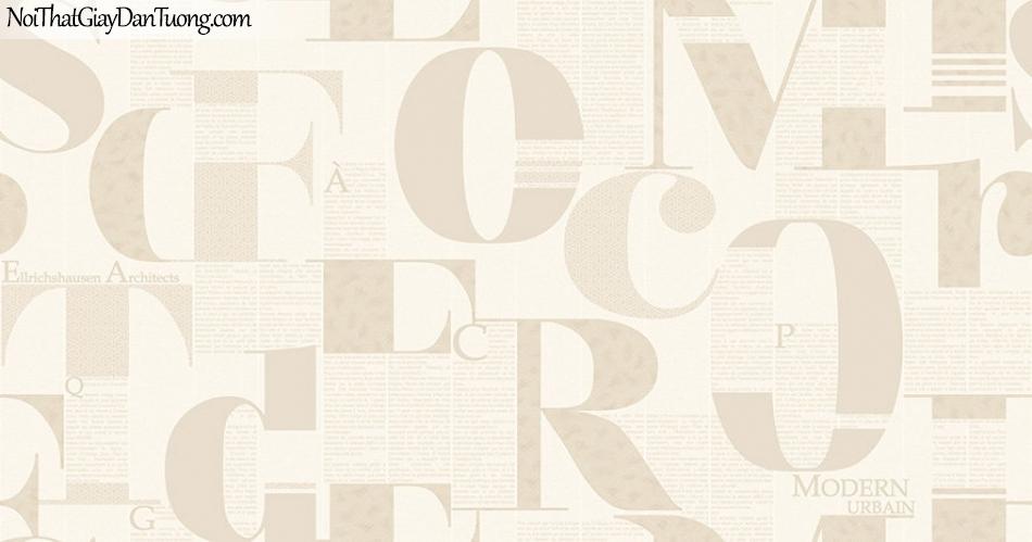 Giấy dán tường The Eight 2134-3 - giấy dán tường chữ, chữ màu vàng, nền vàng chữ, tường chữ vàng, vàng nhạt, chữ đẹp