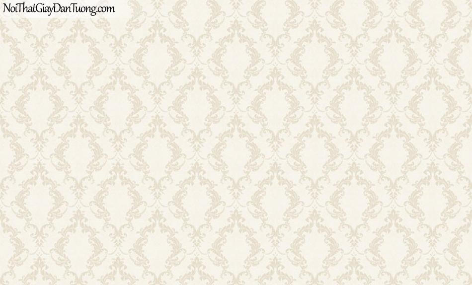 Giấy dán tường The Eight 2136-2 - giấy dán tường caro lớn vàng nhạt