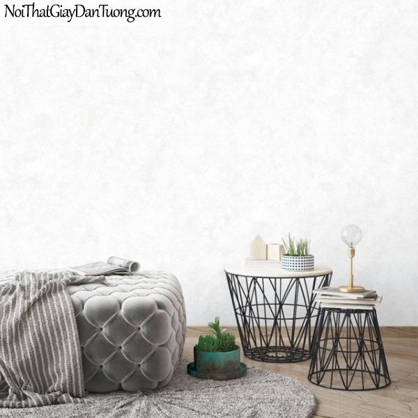 Giấy dán tường The Eight 2138-1 - phối cảnh giấy dán tường trơn màu trắng, trắng kem