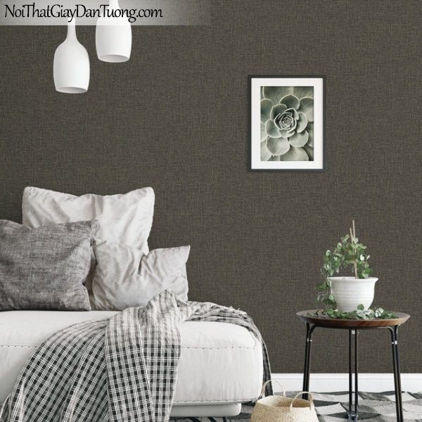 Giấy dán tường The Eight 2142-4 - phối cảnh giấy dán tường màu sẫm, giấy điểm nhấn, giấy trơn đẹp, màu sẫm ánh vàng