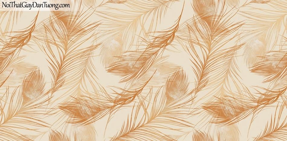 Giấy dán tường The Eight 2143-3 - giấy dán tường lông vũ màu vàng, lông chim màu vàng