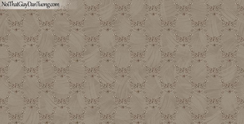 Giấy dán tường The Eight 2145-5 - giấy dán tường hoa văn cổ điển mà xám vàng, mà vàng sẫm