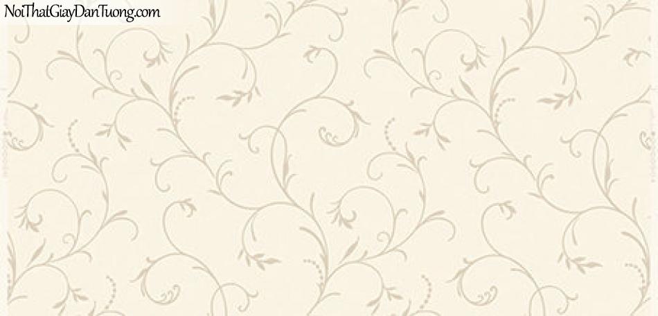 Giấy dán tường Hàn Quốc Hera 2018 ( vol 4 ) - 6005-2 - Giấy dán tường hoa văn dây leo màu vàng nhạt, vàng kem