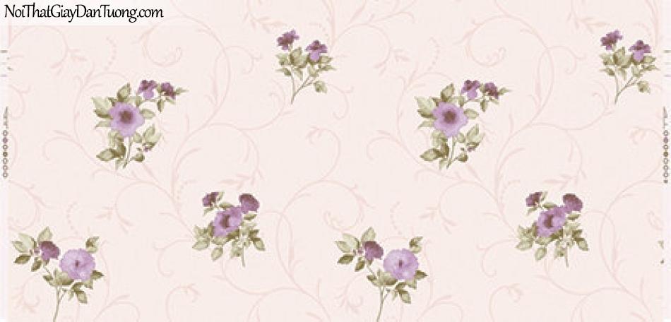 Giấy dán tường Hàn Quốc Hera 6006-2 - giấy dán tường bông hoa rơi, hoa màu hồng rơi