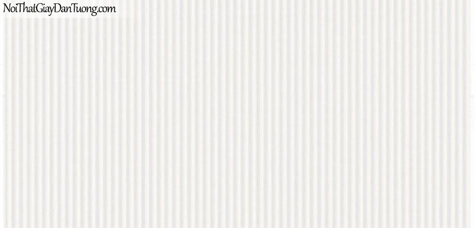 Giấy dán tường Hàn Quốc Hera 6010-1 - giấy dán tường sọc thẳng, sọc nhuyễn thẳng, sọc trắng nhỏ