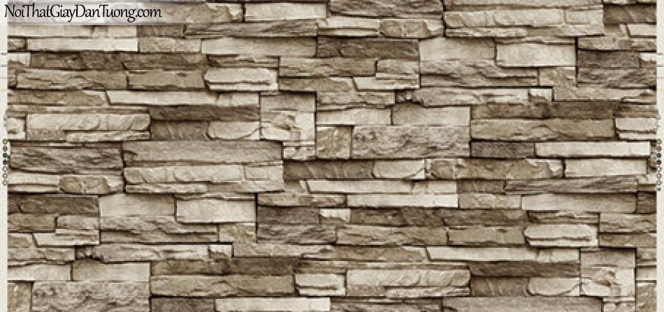 Giấy dán tường Hàn Quốc Hera 6021-3 - giấy dán tường giả đá, giá đá 3D, giả đá màu vàng nhạt, đá thẻ, đá ghép