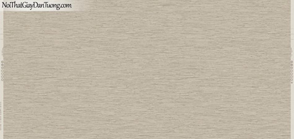 Giấy dán tường Hàn Quốc Hera 6022-3 - giấy dán tường sọc ngang, sọc nhuyễn màu nâu vàng, vàng nhạt