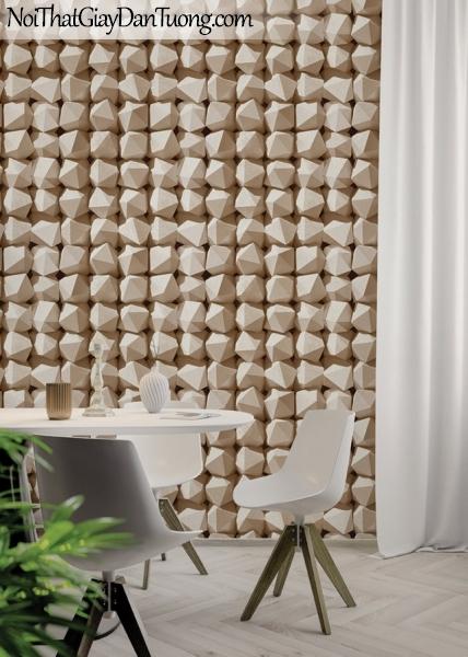 Giấy dán tường Hàn Quốc Hera H6030-3 - phối cảnh giấy dán tường 3D đẹp