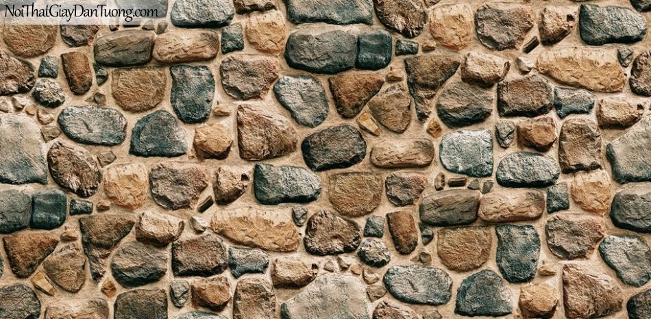 Giấy dán tường Hàn Quốc Hera H6034-3 - giấy dán tường giả đá 3D, đá khối, đá viên, đá cục, đá xanh, tường đá